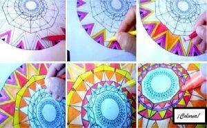 Mandala colorear 6