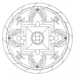 Mandala tibetana 4